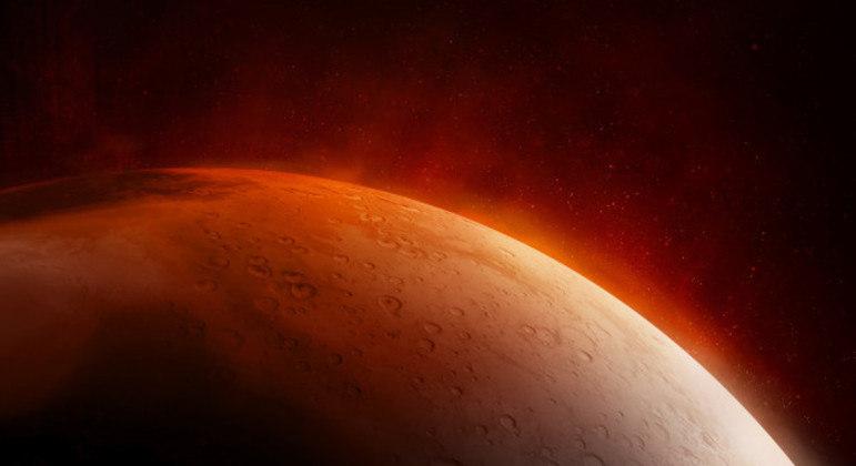 Substância foi encontrada em barrancos situados no equador marciano