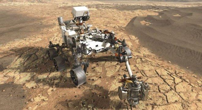 O robô Perseverance partiu para Marte em busca de sinais de vida
