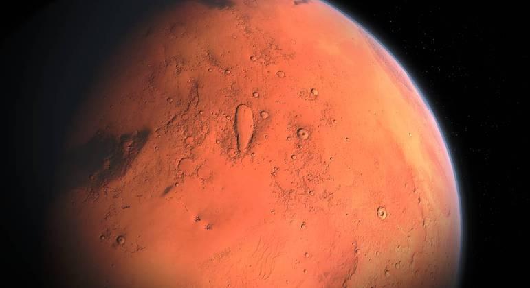 Espaçonave pousou em um local em uma vasta planície conhecida como Utopia Planitia
