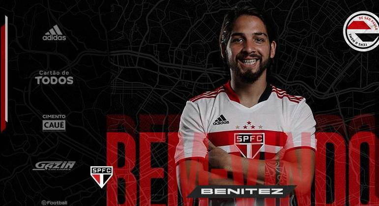 São Paulo oficializa a chegada do meia argentino Martín Benítez