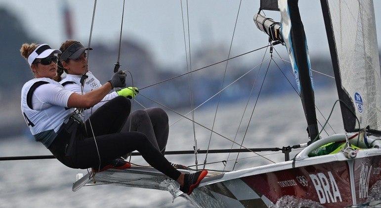 Kahena Kunze e Martine Grael em ação