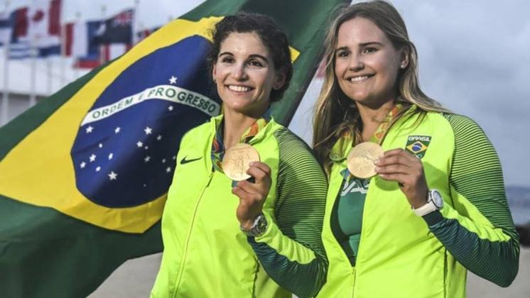 Martine Grael e Kahena Kunzel foram ouro na vela, na categoria 49erFX. Agora, elas são favoritas para mais um topo