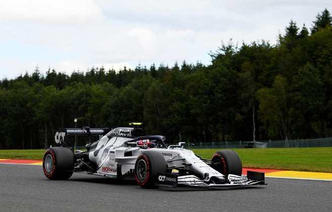 Mas Pierre Gasly está logo atrás e sai na 12ª posição (Foto: Getty Images/Red Bull Content Pool)