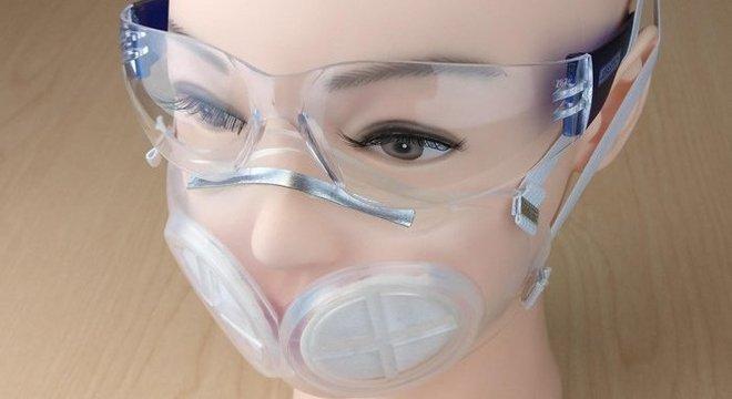 Protótipo de máscara reutilizável desenvolvida pelo MIT e por Havard