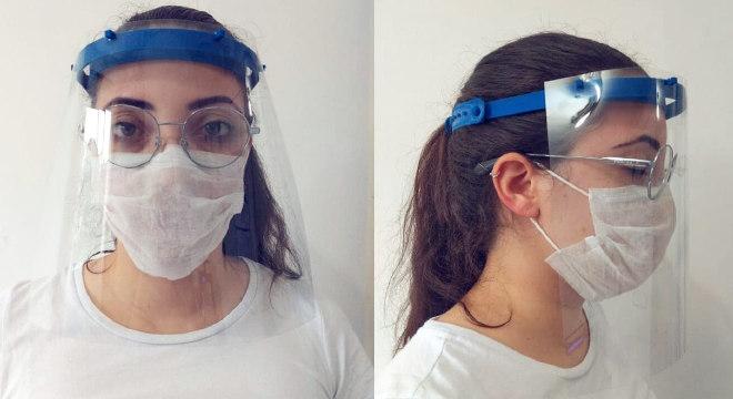 Protetor facial faz parte dos equipamentos obrigatórios para agentes de saúde