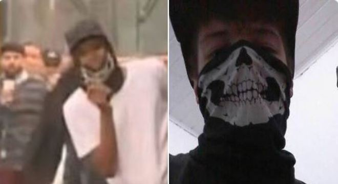 Sequestrador da ponte Rio-Niterói usa máscara igual ao atirador de Suzano