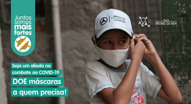 Campanha angaria ajuda para promover doação de máscaras