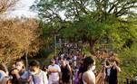 SP - CLIMA/SÃO PAULO/PARQUE DO IBIRAPUERA - GERAL - Movimentação de visitantes no Parque do Ibirapuera, na zona sul de são Paulo, em domingo de sol e calor na cidade. 26/09/2021 - Foto: