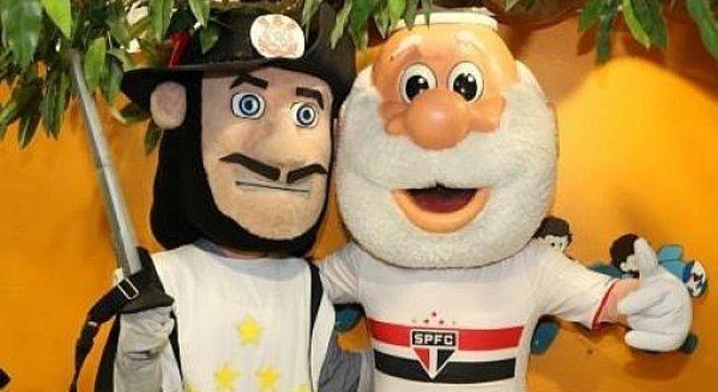 Os simpáticos mascotes de Corinthians e São Paulo