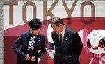 mascotes Tóquio 2020, Miraitowa, Someity, Yuriko Koike, Yoshiro Mori,