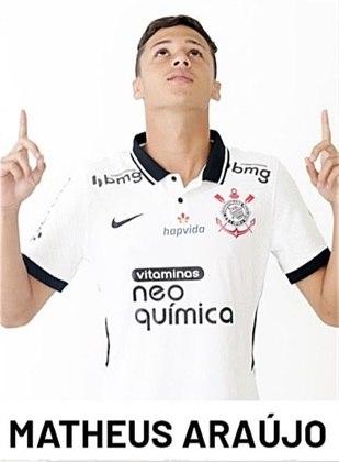 Matheus Araújo - 5,5 - Estreou com a camisa do Timão e teve participação discreta.
