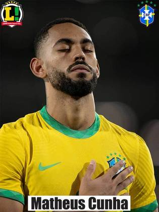 Matheus Cunha - 6,0 - Perdeu uma chance clara de gol, mas fez boa troca de passes na área.