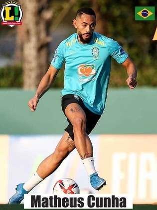 Matheus Cunha - 7,0 - Brasileiro criou chances, deu assistência para o terceiro gol de Richarlison, mas não foi eficiente quando teve oportunidade de balançar as redes. Camisa 9 ainda perdeu pênalti no primeiro tempo.