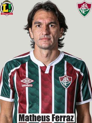 Matheus Ferraz - 6,0 - Entrou no primeiro tempo no lugar de Luccas Claro. Cumpriu sua função tática na marcação.
