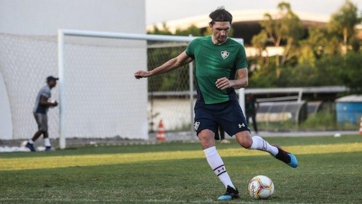 Matheus Ferraz - Clube: Fluminense - Posição: Zagueiro - Idade: 36 anos - Jogos completados no Brasileirão 2021: 0 jogos - Situação no clube: Reserva com poucas oportunidades