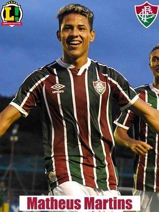 MATHEUS MARTINS - 5,5 - Foi responsável pela chance mais clara do Fluminense na etapa final, ao aproveitar contra-ataque e concluir. Mas não conseguiu levar a equipe a arrancar ao menos um empate.