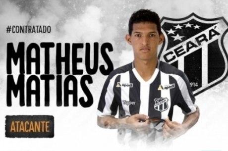 Matheus Matias foi emprestado para o Ceará