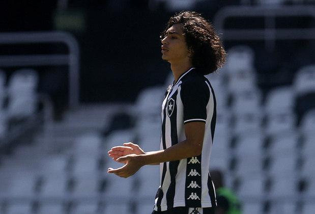 Matheus Nascimento - Botafogo - Atacante - 16 anos: É a grande joia do Botafogo. Jogador mais jovem a vestir do Alvinegro em uma partida profissional, Matheus terminou 2020 no sub-20, mas pode ter mais chances no profissional na temporada que está por vir. Mesmo jovem, está acostumado a jogar com atletas mais fortes que ele. Tem posicionamento e é um genuíno camisa 9