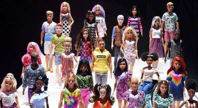 Coleção de bonecas da linha Barbie, da Mattel
