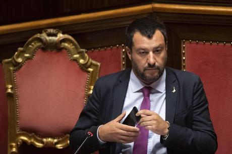 Salvini compareceu ao Senado nesta sexta-feira (12)
