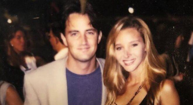 Matthew Perry (Chandler) e Lisa Kudrow (Phoebe)