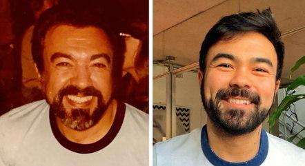 Mauro Sousa pegou uma foto antiga do pai e fez uma comparação que viralizou