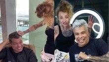 Maurício Mattar faz mudança radical e surge de cabelo platinado