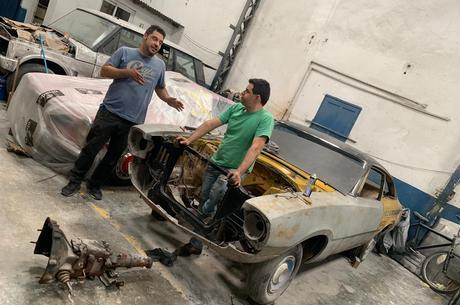 Lombardi e Giuliano trabalhando no Maverick