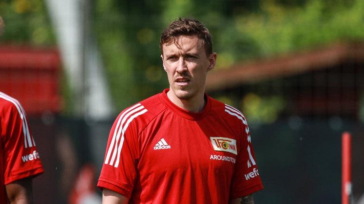 Max Kruse - Clube: Union Berlim - Seleção: Alemanha - Posição: Atacante - Idade: 33 anos - Valor segundo o Transfermarkt: 19 milhões de euros (aproximadamente R$ 114,86 milhões)