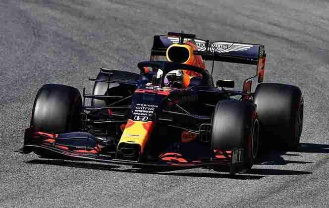 Max Verstappen em ação na classificação em Mugello
