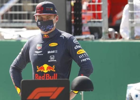 Max Verstappen melhor na classificação e ficou em 3º posto do grid, com 1min03s477