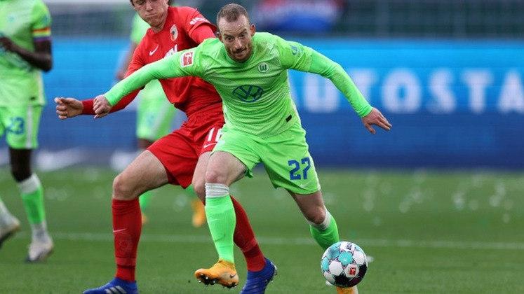 Maximilian Arnold - Clube: Wolfsburg - Seleção: Alemanha - Posição: Meia - Idade: 27 anos - Valor segundo o Transfermarkt: 19 milhões de euros (aproximadamente R$ 114,86 milhões)