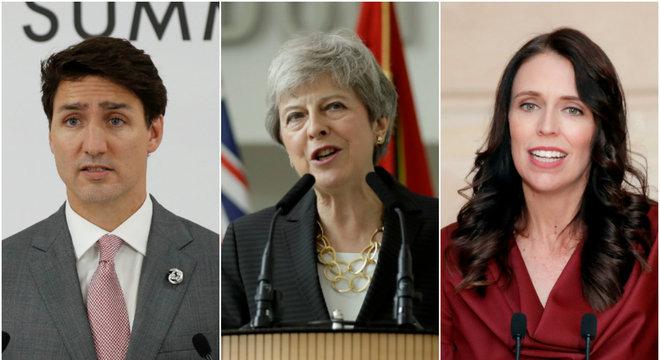 Líderes do Canadá, Reino Unido e Nova Zelândia condenaram fala de Trump
