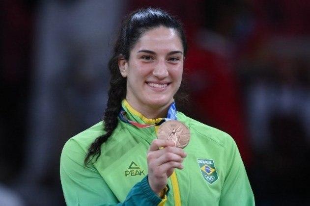 Mayra Aguiar: bronze em Londres 2012, Rio 2016 e Tóquio 2020, a judoca de 30 anos é ainda bicampeã mundial e deve ganhar mais uma medalha em Paris 2024