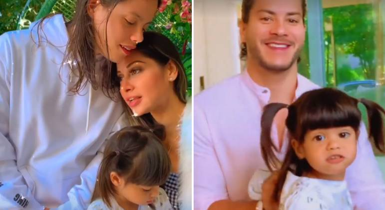 Mayra Cardi ganha surpresa de Dia das Mães dos filhos e Arthur Aguiar