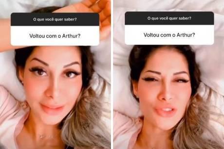 Mayra Cardi afirma que não reatou com Arthur Aguiar