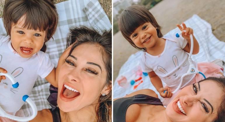 Mayra Cardi se afasta das redes para cuidar da saúde da filha, Sophia, de 2 anos