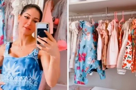 Mayra fez um tour pelo closet de Sophia