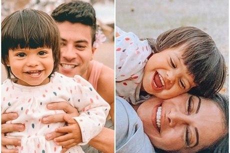 Mayra Cardi e Arthur Aguiar publicaram fotos no mesmo lugar