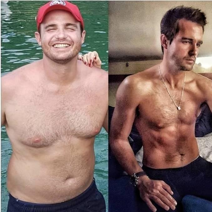Ator brasileiro exibiu um antes e depois de perder 14 kg