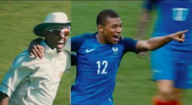 Mbappé na recente campanha mundial da Nike. Nada de Neymar