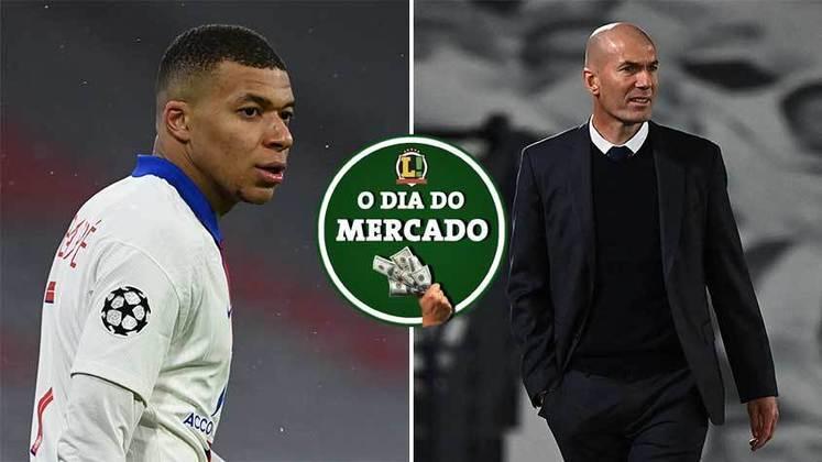 Mbappé dá declaração que pode selar o seu destino na próxima temporada, Zidane é especulado para comandar outros clubes. Tudo isso e muito mais no Dia do Mercado.