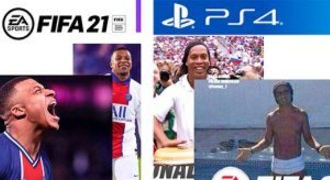 """Mbappé é a estrela de capa """"feita pelo estagiário"""" de FIFA 21"""
