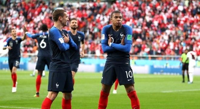 Mbappé e Griezmann, os dois jogadores mais valiosos da seleção francesa