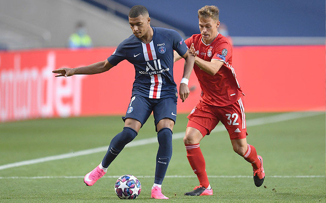 Mbappé em ação na final contra o Bayern. O jovem francês se esforçou muito, mas os alemães levaram a melhor.