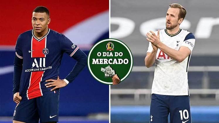 Mbappé faz proposta ao PSG para que a renovação de contrato seja concluída. Cada vez mais certo de que quer deixar o Tottenham ao final da atual temporada, Harry Kane começa a atrair vários interessados de dentro da Inglaterra. Tudo isso e muito mais no Dia do Mercado