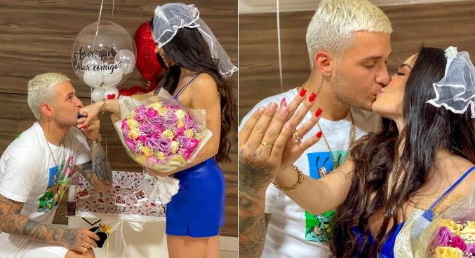 Na web, MC Gui e Beatriz Michelle mostraram pedido de casamento