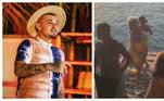 O músico virou assunto no fim de março após ser flagrado em uma praia de Bertioga, no litoral norte de São Paulo, em meio ao isolamento social pela pandemia de covid-19 e às medidas de restrição mais severas, devido ao aumento do número de casos da doença. Imagens e vídeos de Gui na praia, sem máscara, e com os influenciadores digitais Vivi, Jon Vlogs, Beatriz Michelle e Belle Kaffer viralizaram e eles foram alvos de críticas de moradores da região e internautas nas redes sociaisLeia mais:MC Gui fura decreto, vai à praia fechada com amigos e é criticado