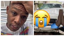 MC Kekel sofre acidente de carro: 'Nasci de novo'