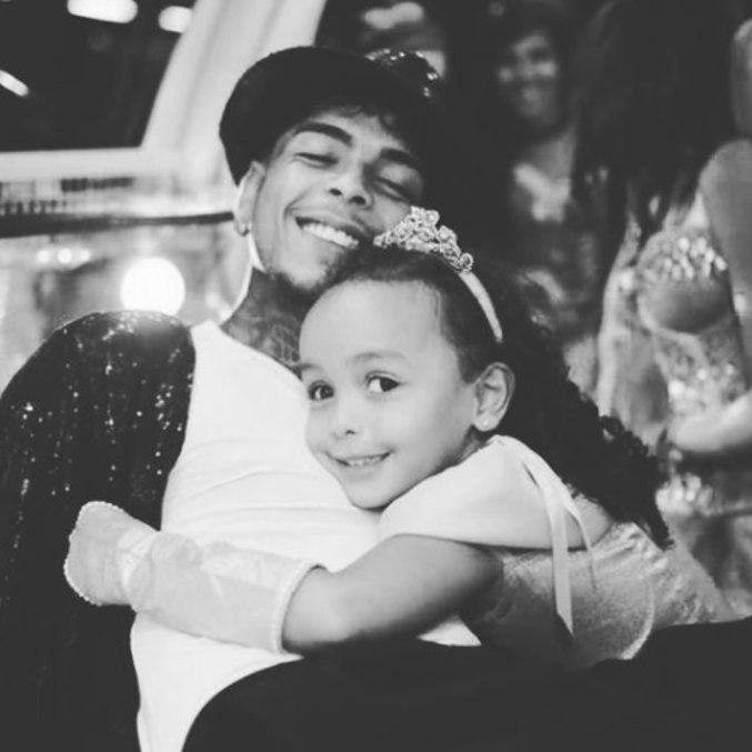 MC Kevin e a filha, Soraya, de 5 anos